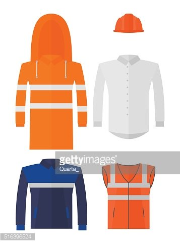 Set of different kinds protective work wear
