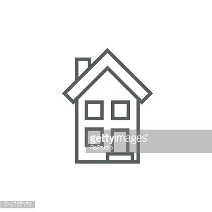 Two storey detached house line icon