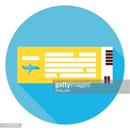 Plane Air Ticket Circle Icon