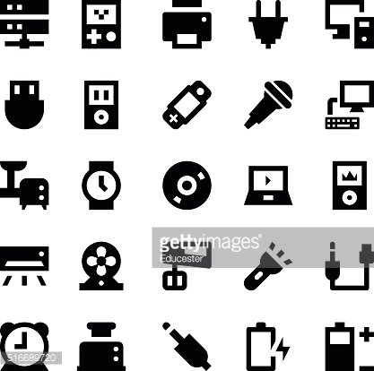 Electronics and Devices Vector Icons 3