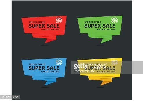 Set Super Sale banners template desing on dark. Best offer.