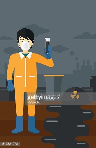 Laboratory assistant with test tube
