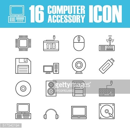 computer equipment outline icon