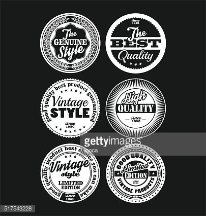 Black and white vintage labels collection