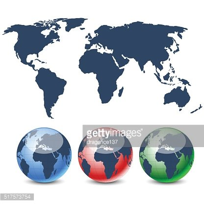 Globes in diferent colors