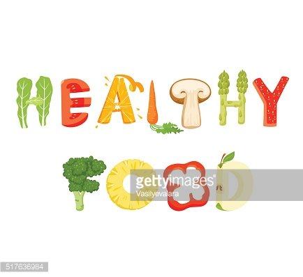 Healthy food lettering