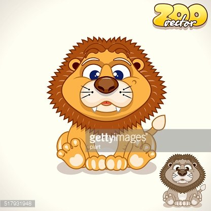 Cartoon Lion. Vector Character