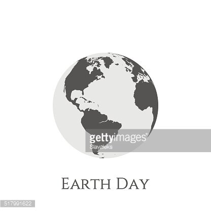 Earth Day gray and white Banner Template