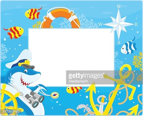 Frame with a shark captain