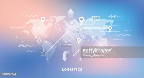 Web banner of logistics