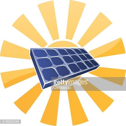 Solar Panel and Sun Concept