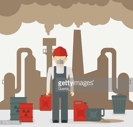 Building industrial and worker of plants