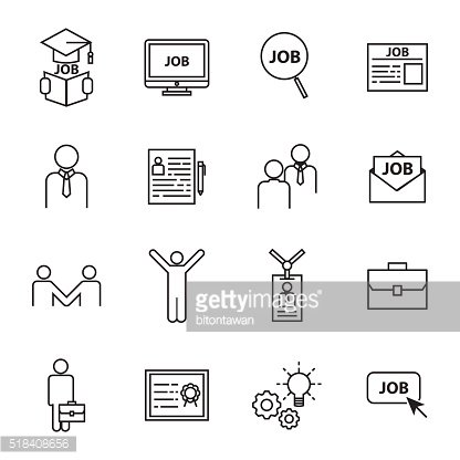 find a Job icons