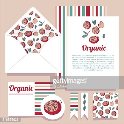 Vector set for design. Open envelope and various cards.
