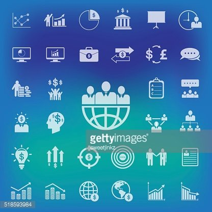 Business and human icons set.Vector/illustration.