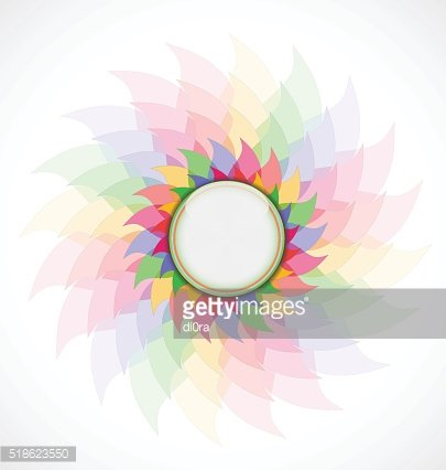Abstract colorful flower.