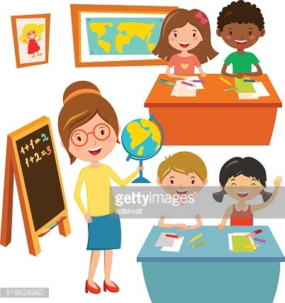 School kids education elementary school learning and people concept vector