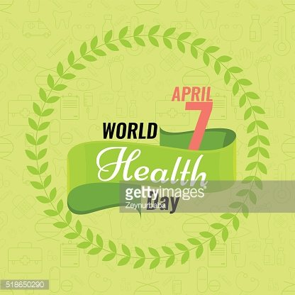 Creative World Health Day Greeting stock vector. Red ribbon