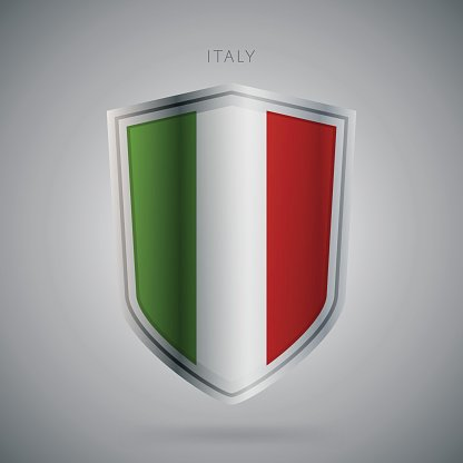 Europe flags series, vector. Italy. Modern icon.