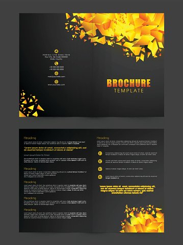 two page brochure template or flyer for premium clipart