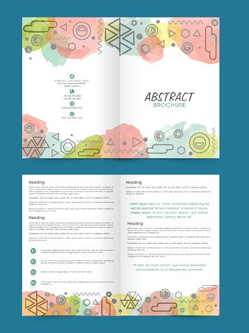 Two Page Brochure Template OR Flyer For Premium Clipart - Two page brochure template