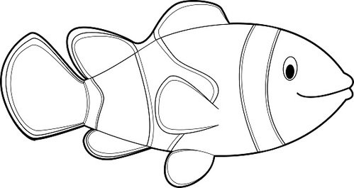 Easy Coloring Animals for Kids: Clownfish premium clipart ...