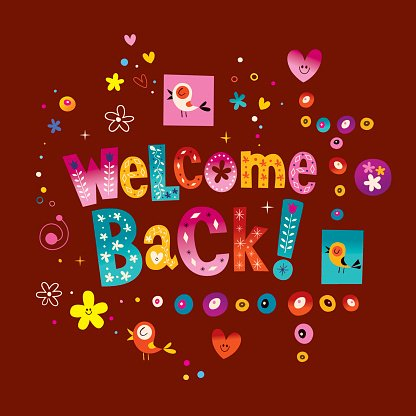 Welcome back greeting card premium clipart clipartlogo welcome back greeting card m4hsunfo