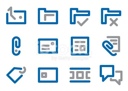 BlueGrey Icon - Document