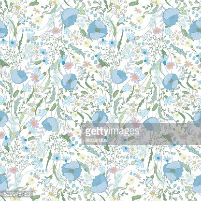 Floral seamless pattern with spring flowers. Endless texture for romantic