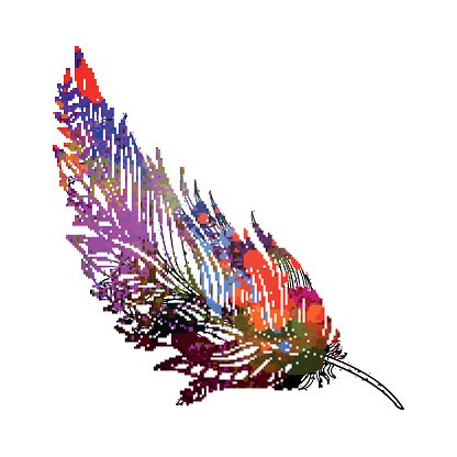 Vector Abstract Ornamental Feather