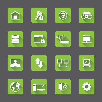 Internet Netzwerk Icon Set premium clipart - ClipartLogo.com