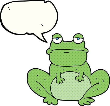 Comic Buch Speech Bubble Cartoon Frosch Premium Clipart