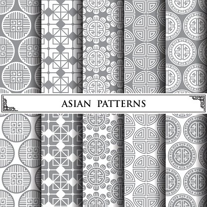 Asian Vector Pattern Pattern Fills Web Page Background Surface