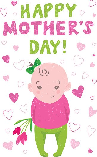 Greeting card mothers day in the style of childrens drawings premium greeting card mothers day in the style of childrens drawings m4hsunfo