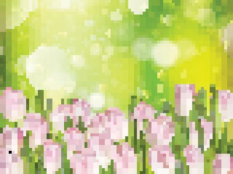 Spring background with tulips. EPS 10