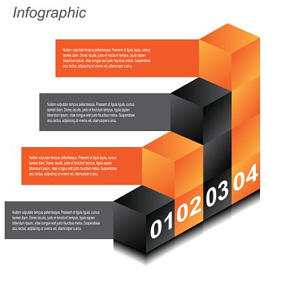 Info Graphic Design Templates IN The Form of A 3d premium