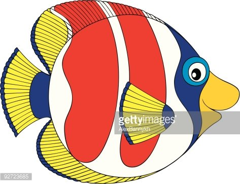 Coral Reef Fish Clip Art - Royalty Free - GoGraph