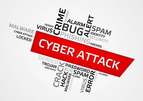 CYBER ATTACK word cloud, tag cloud, graphics Clipart Image