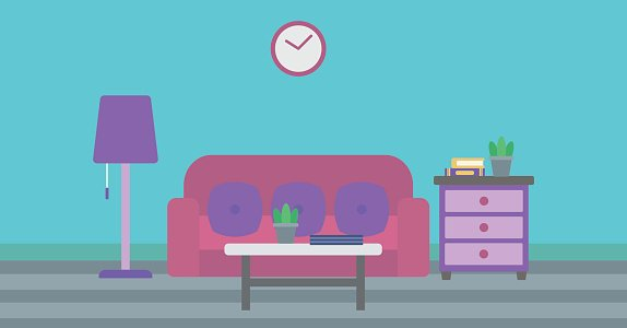 Living Room Scene Icon Vector Illustration Design Royalty Free Cliparts,  Vectors, And Stock Illustration. Image 86159483.