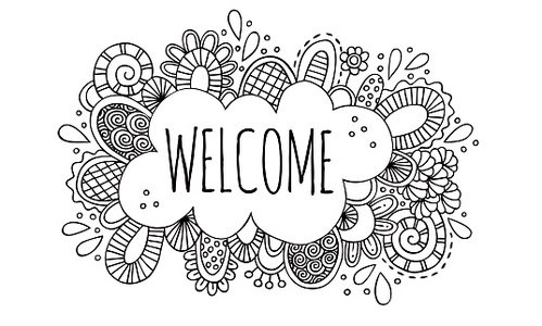 Welcome Hand Drawn Doodle Vector Illustration