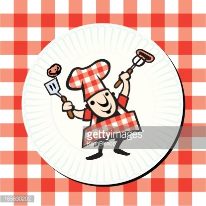 Grilling Gourmet Barbecue Chef on Paper Plate