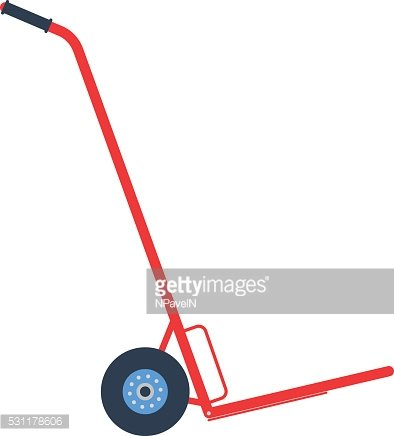 Vector icon - illustration of hand truck