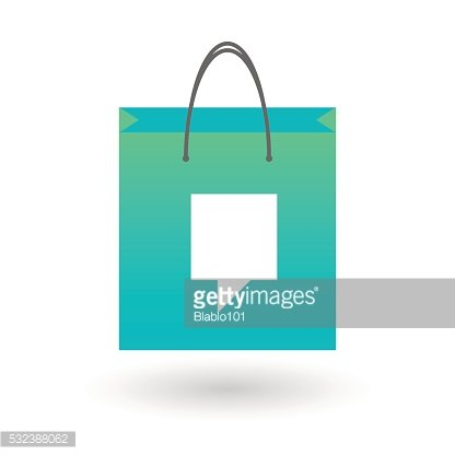Shopping bag with a tooltip
