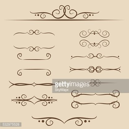 Set of frames, ornaments monograms for Text and web