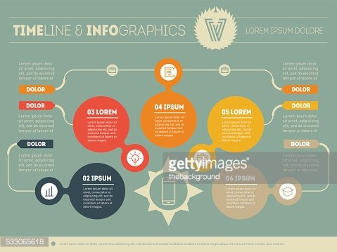 Vector infographic of technology or education process.