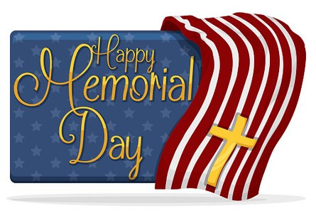 Memorial day banner. With usa design and