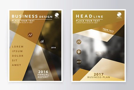 Annual report and brochure. Brochure template reports