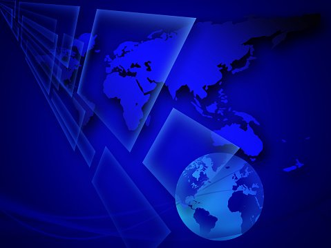 Globe and business world map background