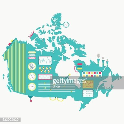 Map of Canada machine