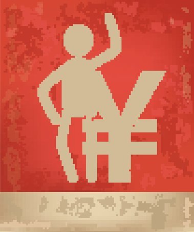 Character design on red background,vector
